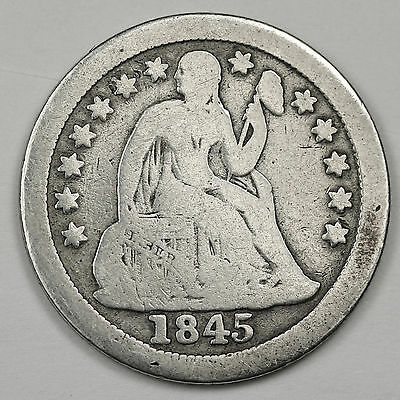 1845-o Seated Liberty Dime.  V.G.  97596