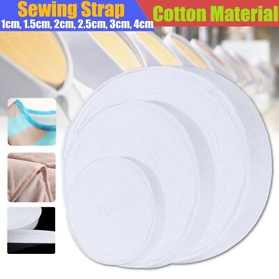 45cm White Cotton Webbing Strap Ribbon Roll Binding Tape Sewing Craft 1-4cm