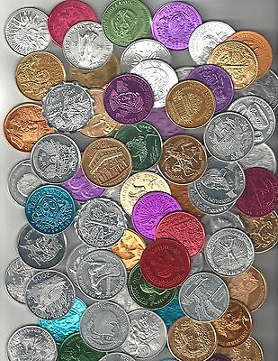 100 Different Mardi Gras Doubloons Coin Token Lot Rex Bacchus Endymion Elks Iris