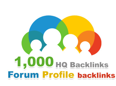 1000 forum profiles backlinks High Quality Boost Google SEO Rank