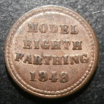 Model pattern by Moore - 1/8th of farthing 1848 - Toy money eighth S Rogers#227