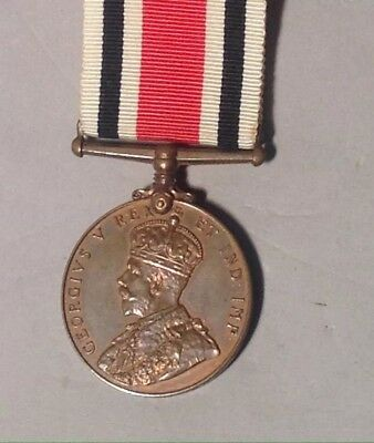 MARKED George VI Special Constabulary Long Service Medal VERSION 1 CROWNED KING