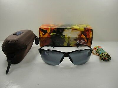 0efe883b16a Maui Jim Hot Sands Polarized 426-02 Sunglasses Gloss Black neutral Grey Lens