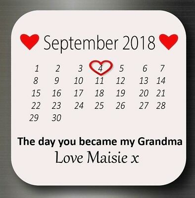 Personalised The day you became my Grandma Fridge Magnet Gift Present