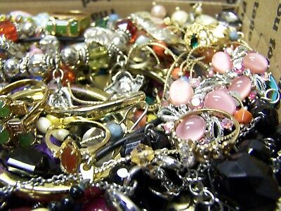 Vintage - Now Jewelry Lot Estate Junk Drawer Brooches, Rings Necklaces, More #34