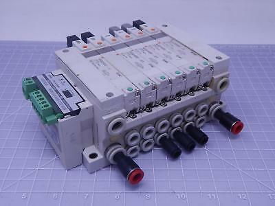 SMC EX120-SDN1 devicenet with 6ea VQ2400-51 Valves includes manifold T127464
