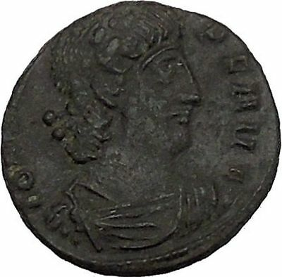 CONSTANS Constantine the Great son Ancient Roman Coin Victory Cult  i44812