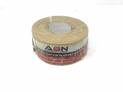 """(Closeout) ABN Adhesive 120-Grit Roll 2-3/4"""" Inch x 20 Yards Aluminum Oxide PSA"""