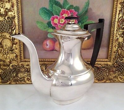 Pristine VINERS Of Sheffield Georgian Style Silver Plated Coffee Pot C1930