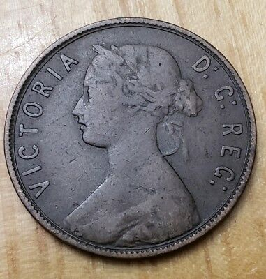 Canada 1873 Queen Victoria  Newfoundland Large Cent (Scarce Date)