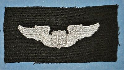 WWII Liaison Pilot Wings Insignia Embroidered on Black Cloth