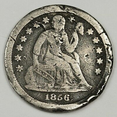 1856-s Liberty Seated Dime.  Circulated.  132362