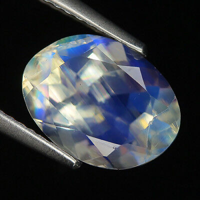 Sporty 3.20 Ct Natural India Blue MOONSTONE Oval Gem @ See Video !!