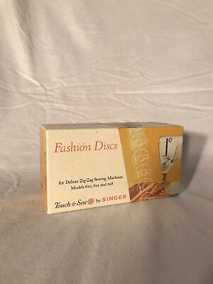 Singer Touch & Sew Fashion Discs for Zig-Zag Sewing Machine Models 620 625 628