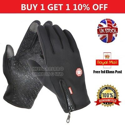 UK Winter Thermal Touch Screen Gloves Anti Slip Warm Windproof Waterproof Gloves