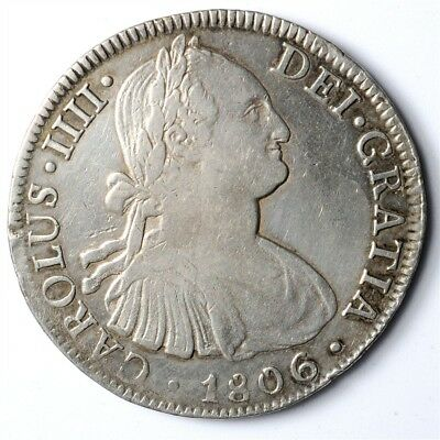 1806-TH Mexico 8 Reales - KM#109 - Spanish Colony Large .896 Silver Coin