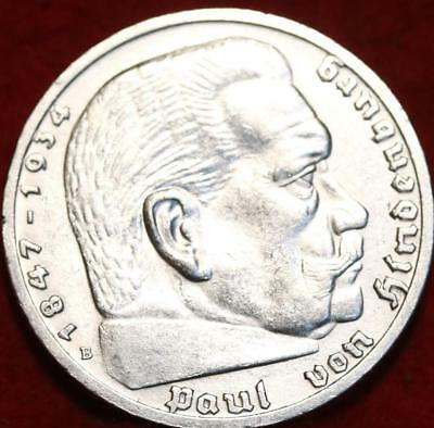 1939 Germany 5 Mark Silver Foreign Coin