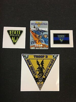 2019 State Police New Jersey Family Member Card +3 Decal