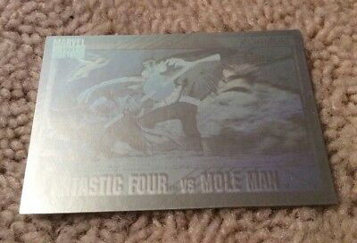 1991 Marvel Universe Fantastic Four vs Mole Man Hologram Impel #H-5