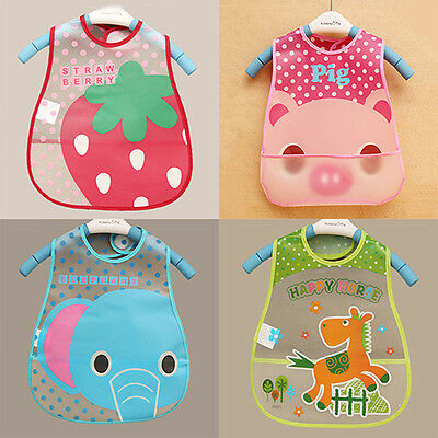 Baby Boy Girls Kids Bibs Waterproof Saliva Towel Cartoon Bib Feeding Bandana