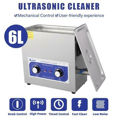 6L 180w Dental Jewelry stainless Ultrasonic Cleaner heater timer 110v Best Price