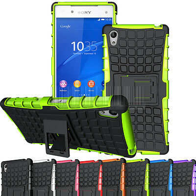 Rugged Armor Rubber Hard Hybrid Stand Case Shockproof Cover For Sony Xperia Z5