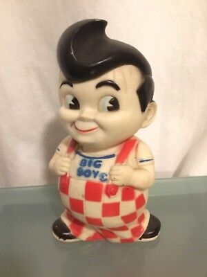 Vintage BOB'S BIG BOY 1970's Plastic Rubber PIGGY BANK Rare Collector's Piece