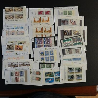 Canadian Lot Of Misc. Plate Block Varieties M/mn Cond. Stamps, Unitrade Bv$953