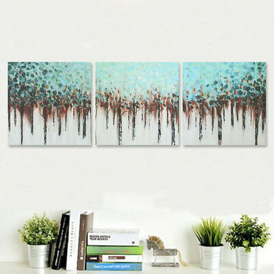 Modern Large Canvas Print Art Oil Painting Abstract Forest Tree Home Wall Decor