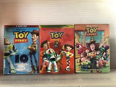 Toy Story DVD Complete Set 1 2 3 NEW, Sealed US EDITION FAST SHIPPING