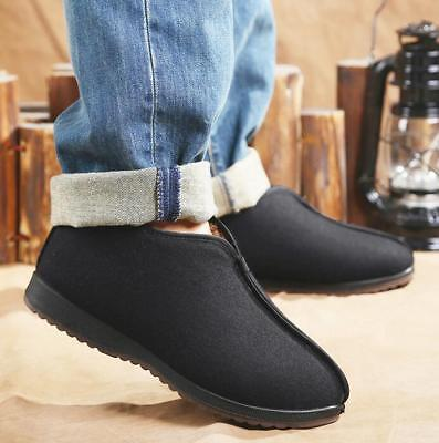 Men's Winter Warm Kung Fu Slippers High-top Martial Tai Chi Velvet Cloth Shoes