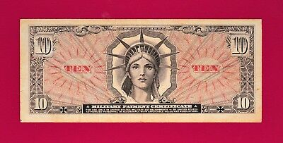 RARE $10 MPC 1965 Military Payment Certificate in High Grade - VERY COLLECTIBLE