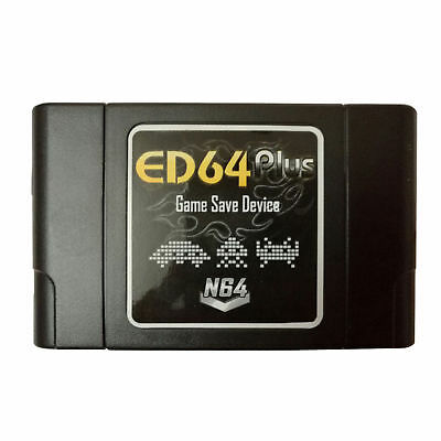 For N64 Game Console ED64 Plus Game Save Device Cartridge 8GB SD Card Adapter
