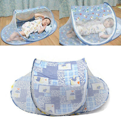 Foldable Infant Baby Mosquito Net Travel Cot Tent Mattress Cradle Bed Portable