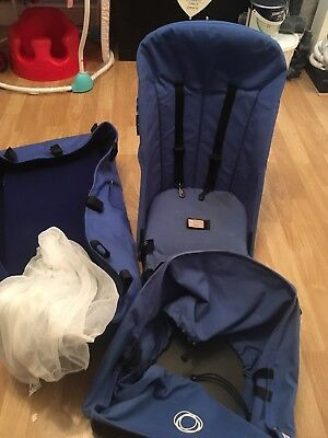 Bugaboo Cameleon 1 Seat Fabric, Carrycot And Basket In Blue