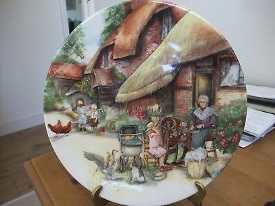 Royal Doulton Collectors Plate The Spinner From Old Country Crafts 1990