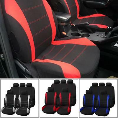 Universal 9Pcs Full Set Seat Covers Cushion Front Rear Car Seat Protector