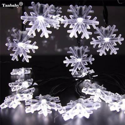 Waterproof Snowflake 6M LED Solar Powered Led Outdoor String Light For Christmas