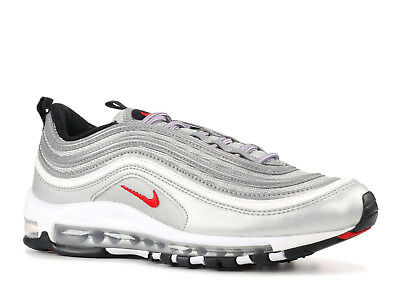 Shoes Nike Air Max 97 OG QS Original Silver Red Argento Rosso Bullet Uomo Donna