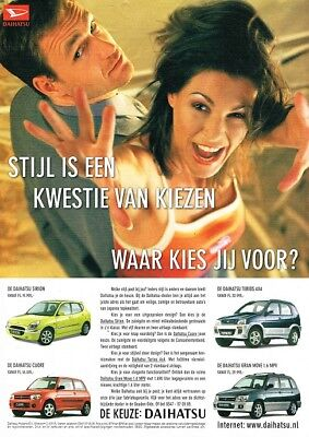 2000 Daihatsu Cuore Gran Move Sirion Terios (Dutch, 1pg) Advertisement (AAD.413)