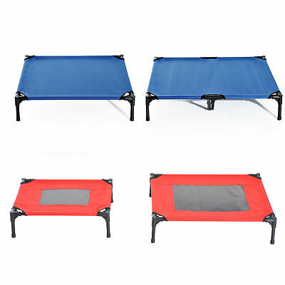 Elevated Pet Bed Cool Cot Dog Cat Portable Folding Home Camping Hammock Foldable