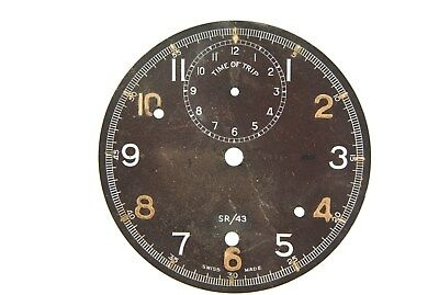 Military MK III A Smiths / Jaeger cockpit clock dial  signed Carley & Clemence