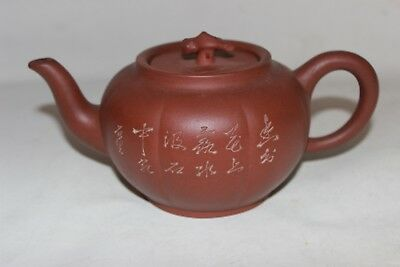 yixing teapot signed marked chinese tea pot signed marked antique pottery