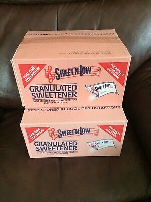 2000 Sachets Sweet N Low Granulated Sweetener Sachets , 2X Boxes  Of 1000