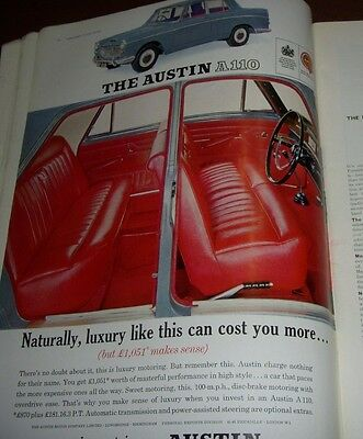 1963 Austin A110 Advertisement From Tatler Magazine