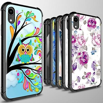 For Apple iPhone XR / 10R Phone Case Slim Tempered Glass + TPU Cover