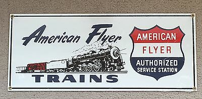 "Lionel America Flyer Trains Porcelain Sign 18"" X 7 1/2"" Ande Rooney"
