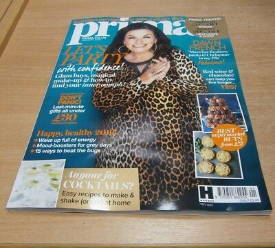 Prima magazine JAN 2019 Dawn French, Last-Min Gifts under £30, Cocktails & more