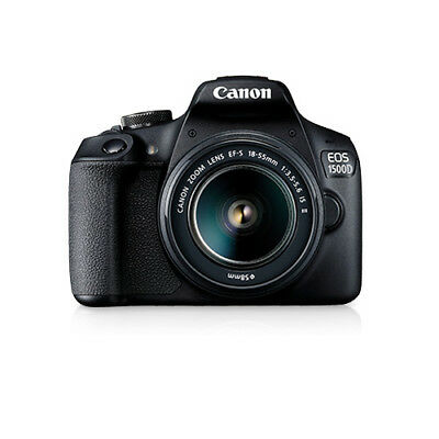 Canon EOS 1500D with 18-55mm F3.5-5.6 IS II Black (Multi) From EU garant