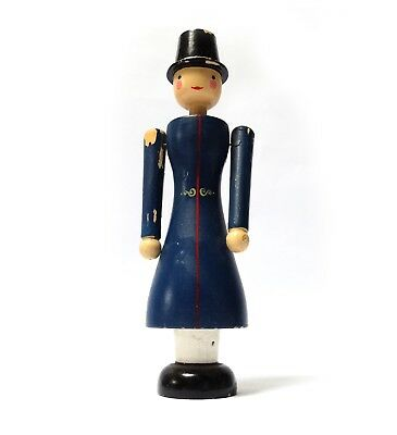 Charming Vintage Wooden Scandinavian folk art KAY BOJESEN style Man in Top Hat